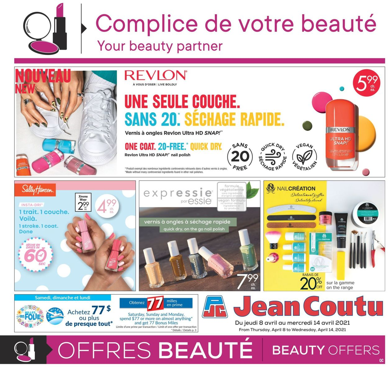 Jean Coutu Flyer - 04/08-04/14/2021