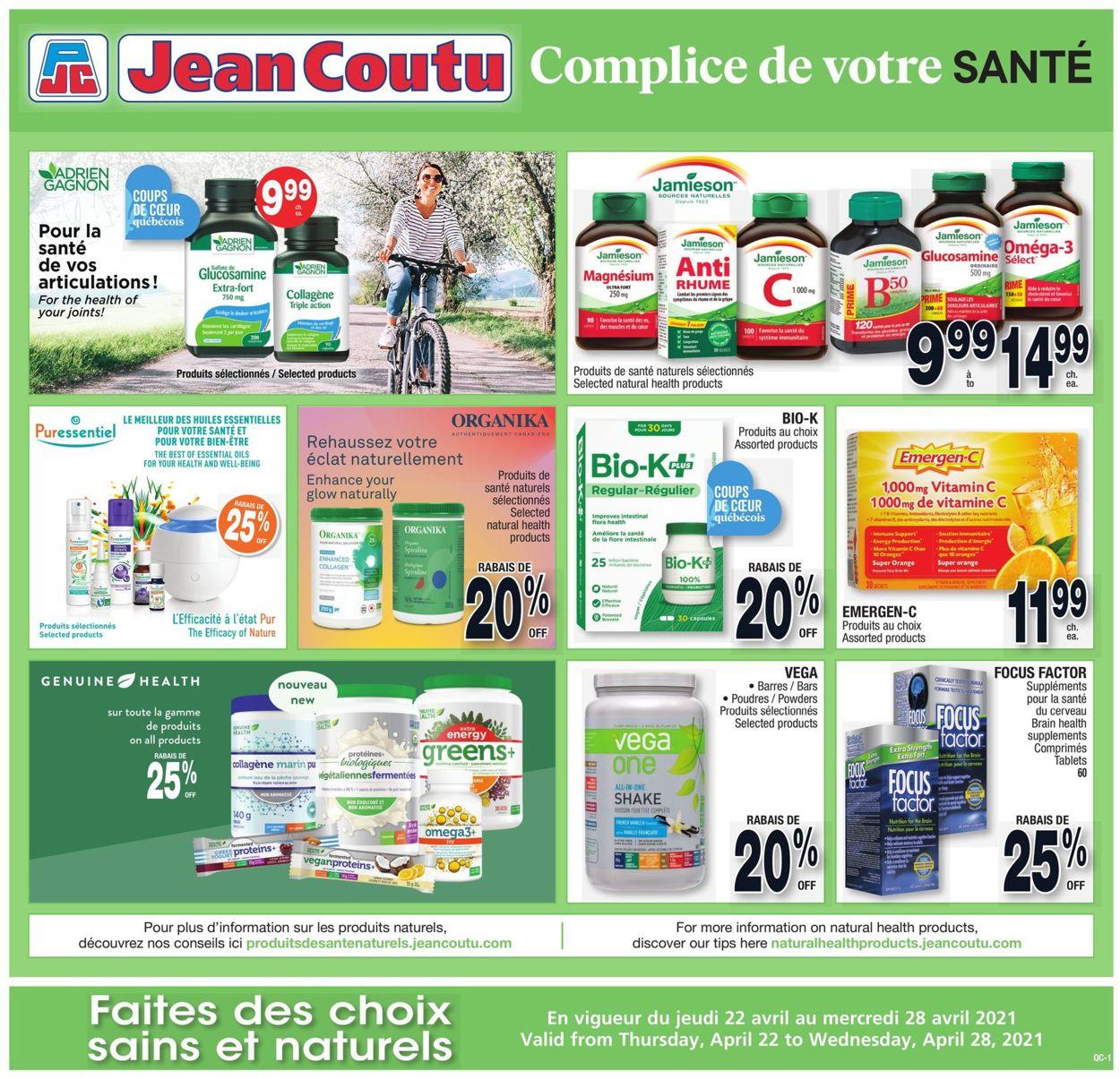 Jean Coutu Flyer - 04/22-04/28/2021