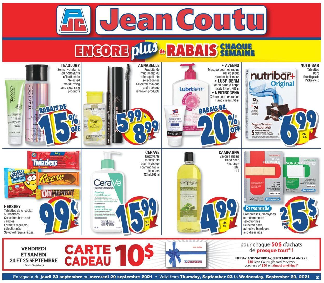 Jean Coutu Flyer - 09/23-09/29/2021
