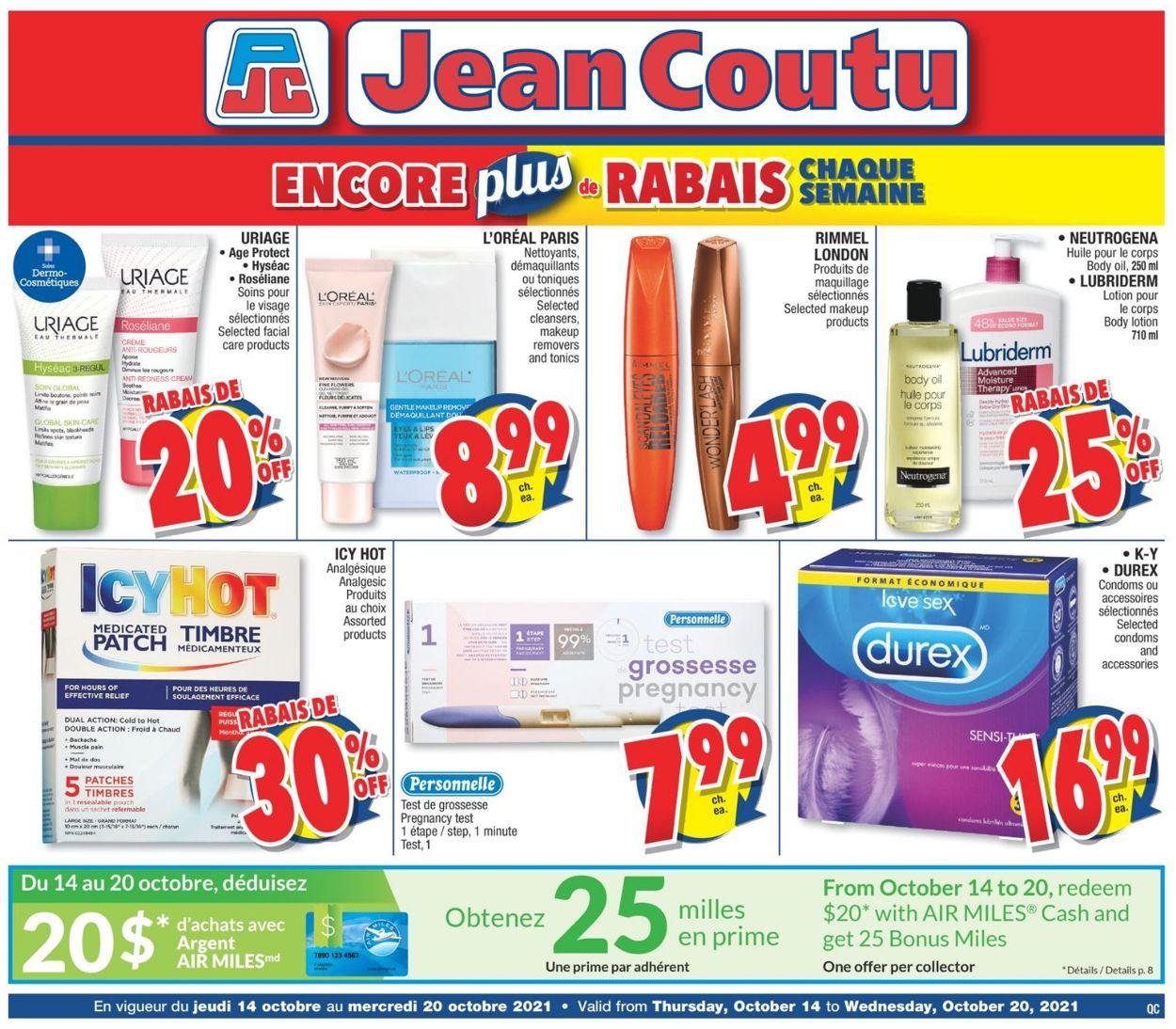 Jean Coutu Flyer - 10/14-10/20/2021