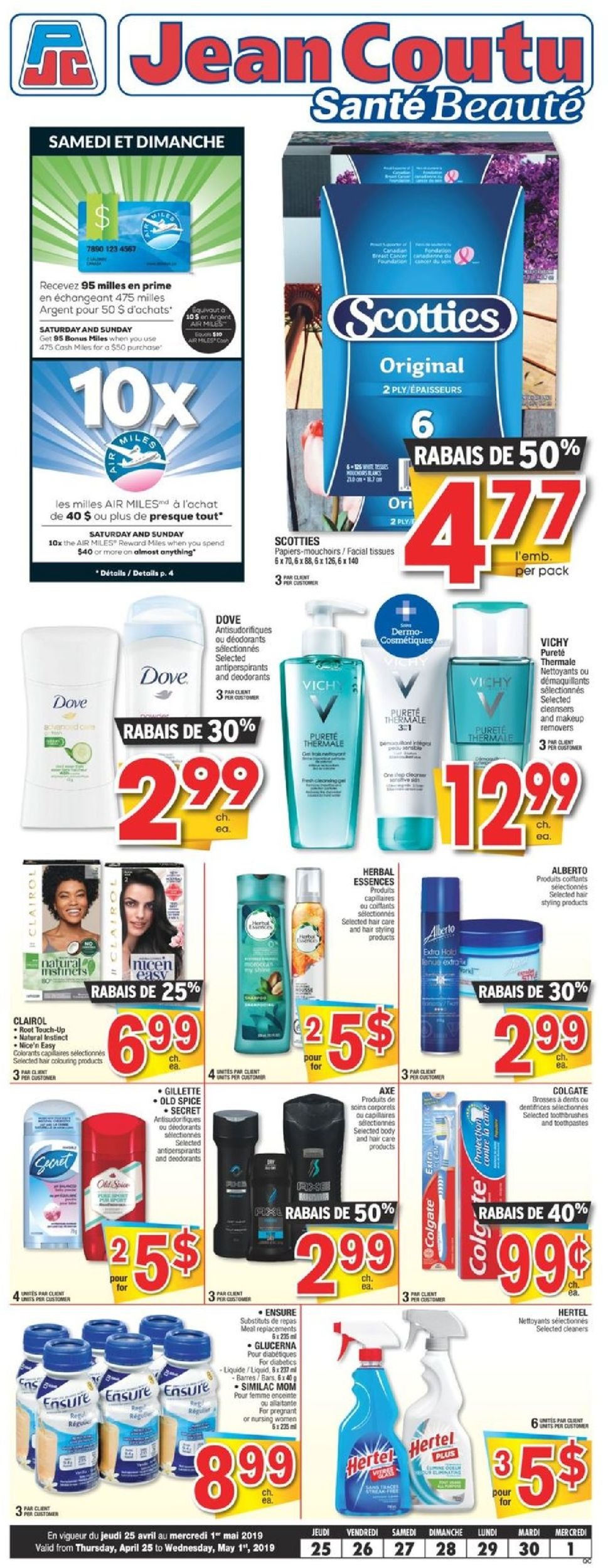 Jean Coutu Flyer - 04/25-05/01/2019