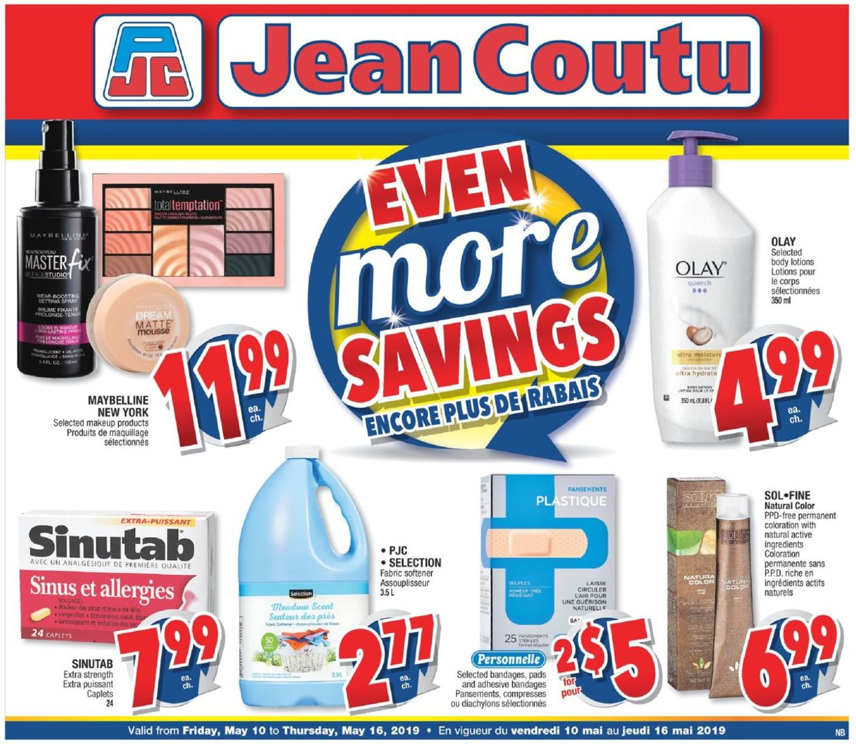 Jean Coutu Flyer - 05/10-05/16/2019