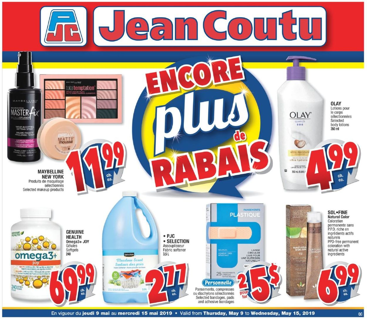 Jean Coutu Flyer - 05/09-05/15/2019