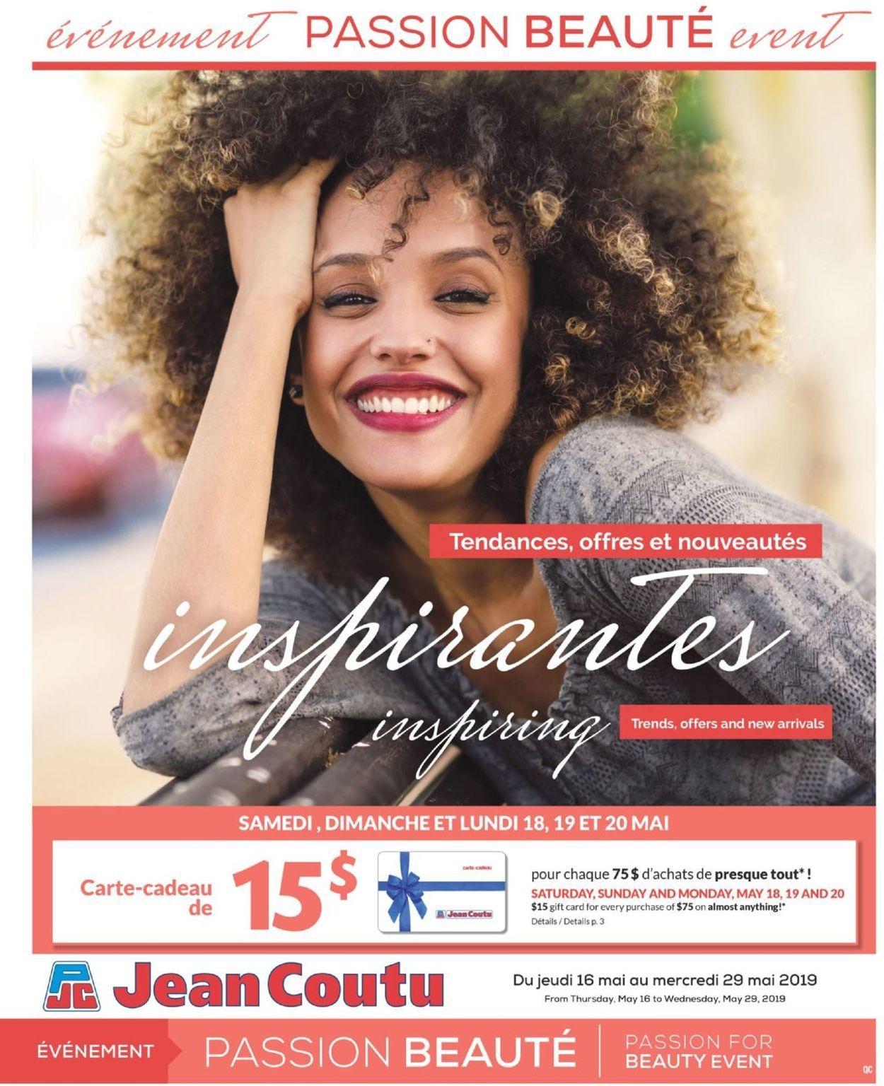 Jean Coutu Flyer - 05/16-05/29/2019