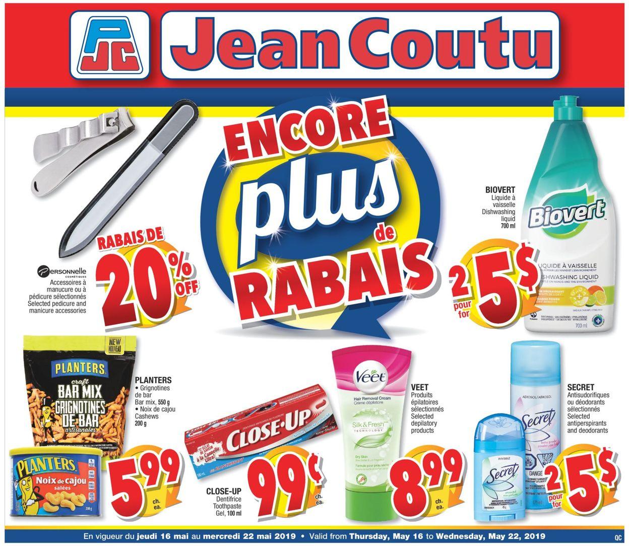 Jean Coutu Flyer - 05/16-05/22/2019