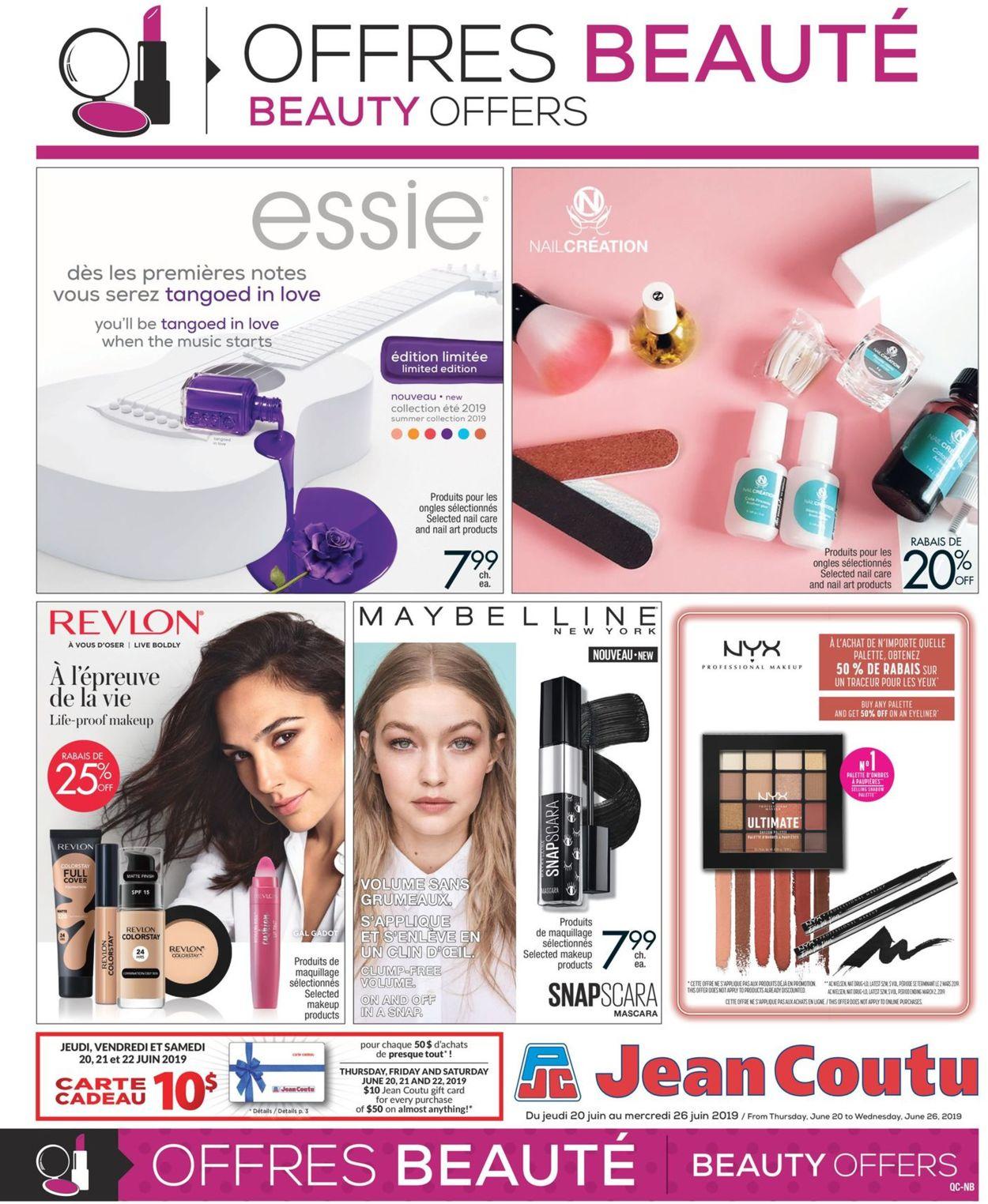 Jean Coutu Flyer - 06/20-06/26/2019