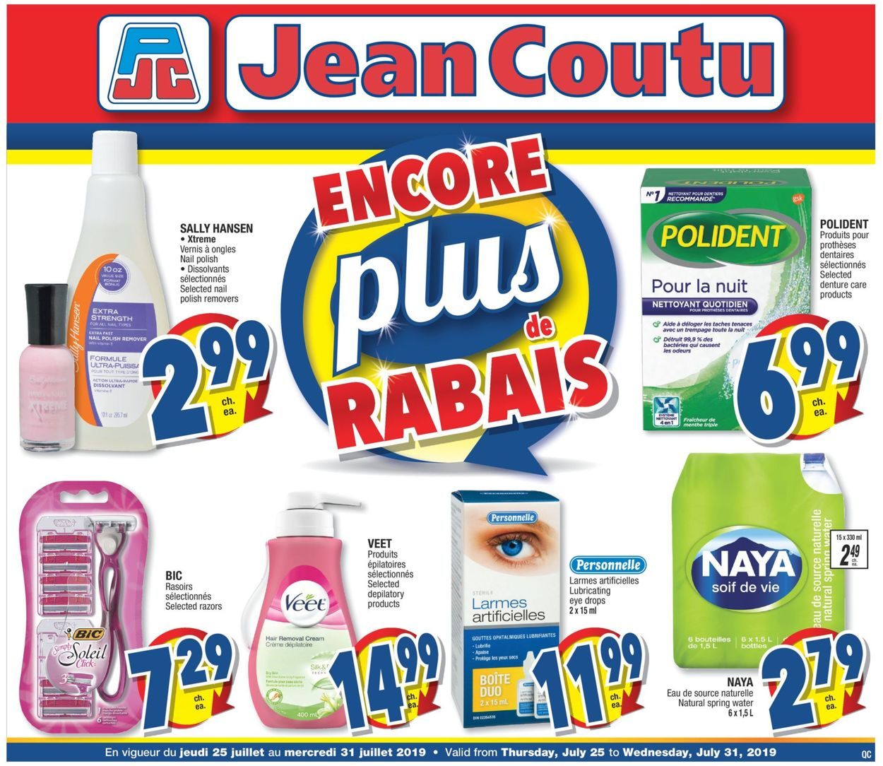 Jean Coutu Flyer - 07/25-07/31/2019