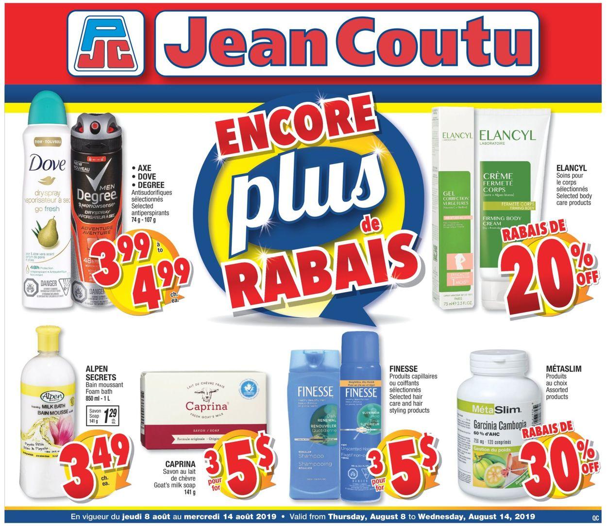 Jean Coutu Flyer - 08/08-08/14/2019