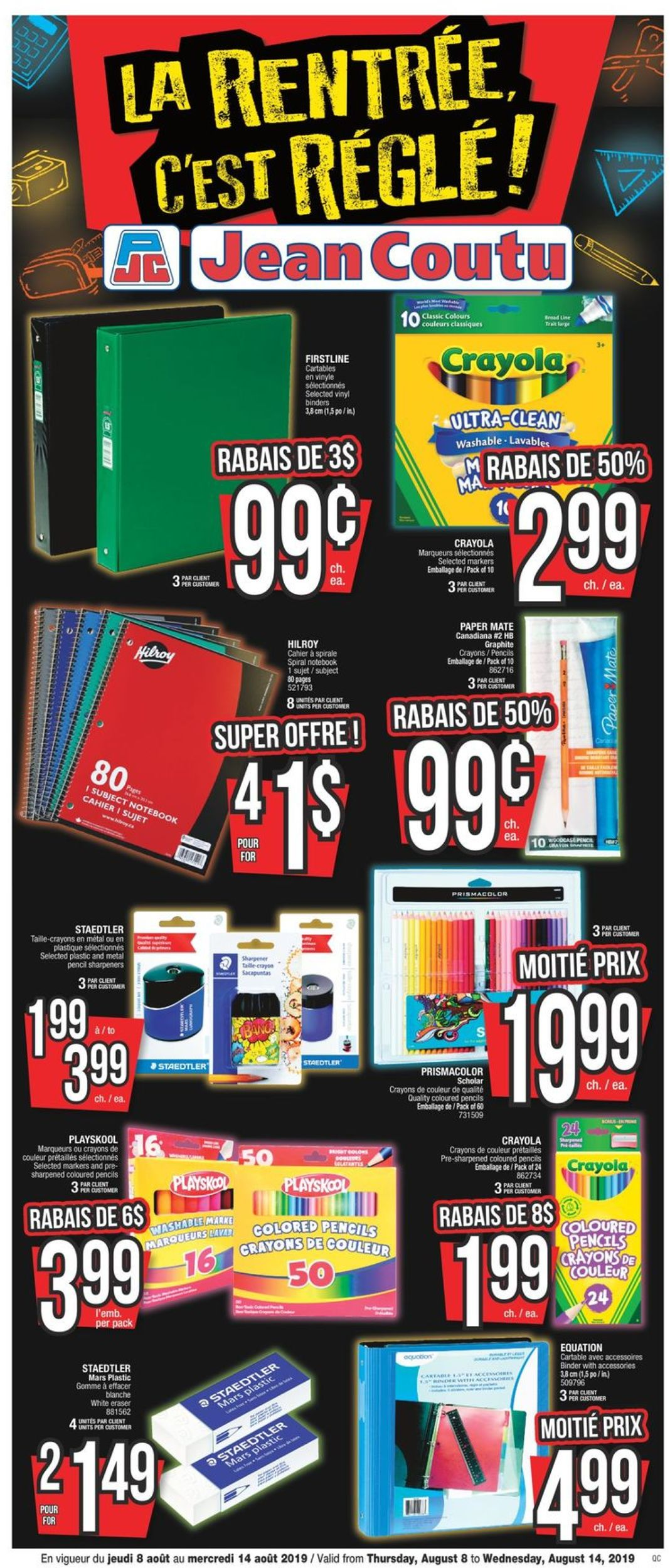 Jean Coutu Flyer - 08/08-08/14/2019