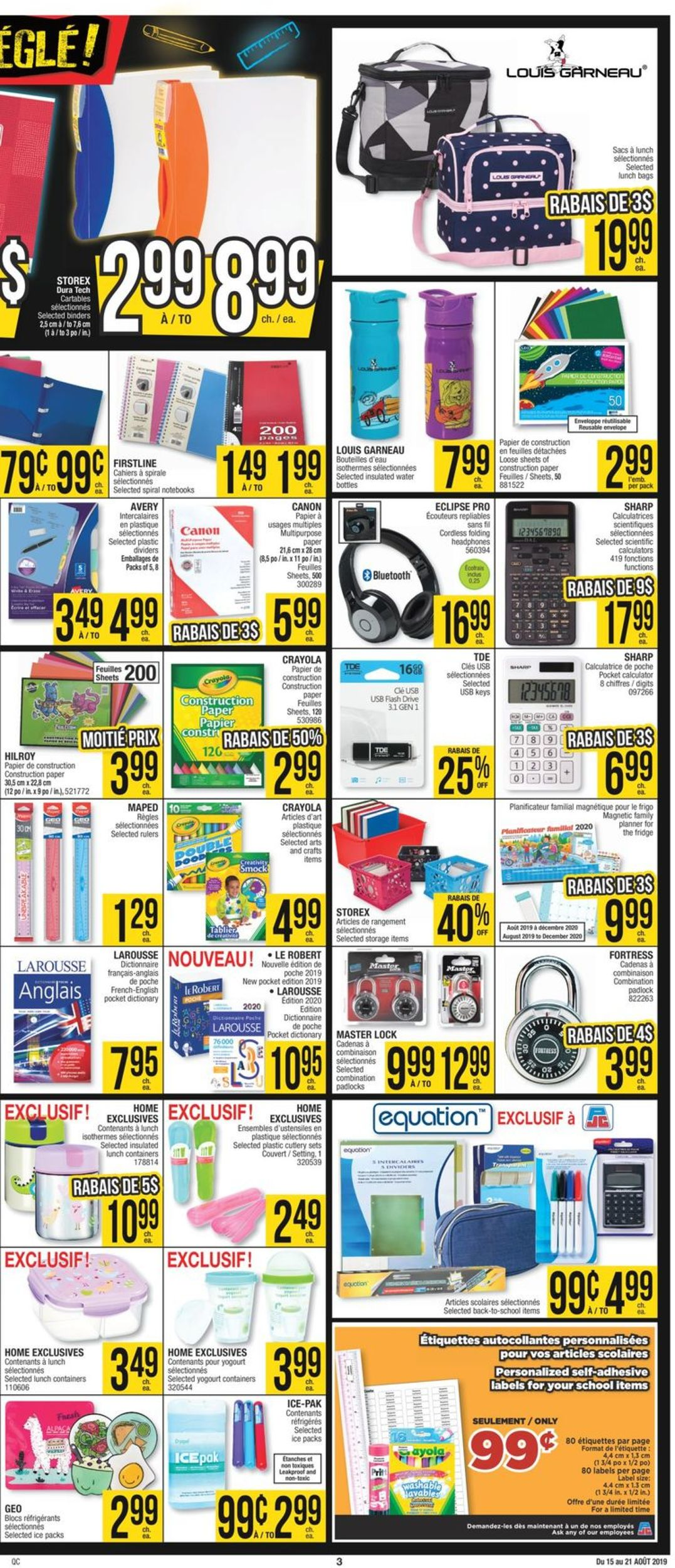 Jean Coutu Flyer - 08/15-08/21/2019 (Page 3)