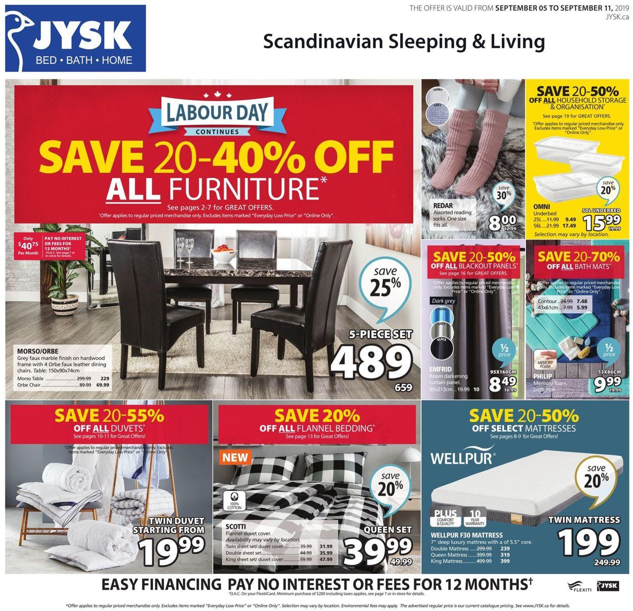 JYSK Flyer - 09/05-09/11/2019