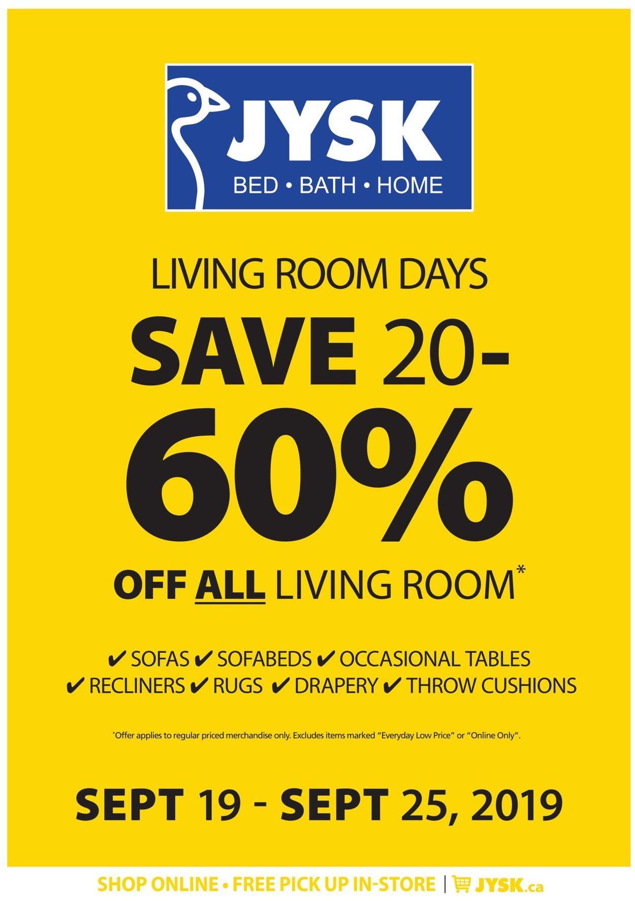 JYSK Flyer - 09/19-09/25/2019