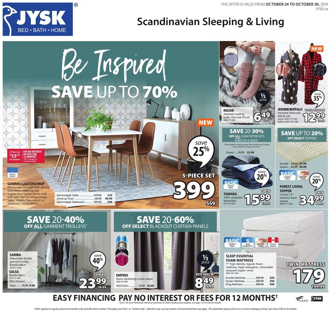 JYSK Flyer - 10/24-10/30/2019