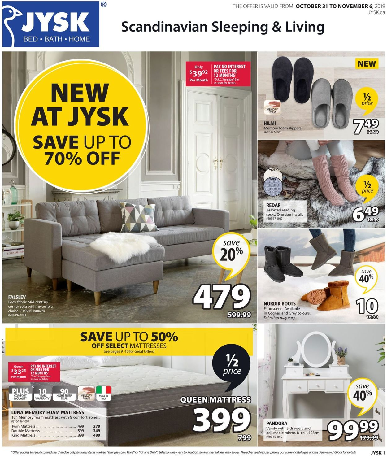JYSK Flyer - 10/31-11/06/2019