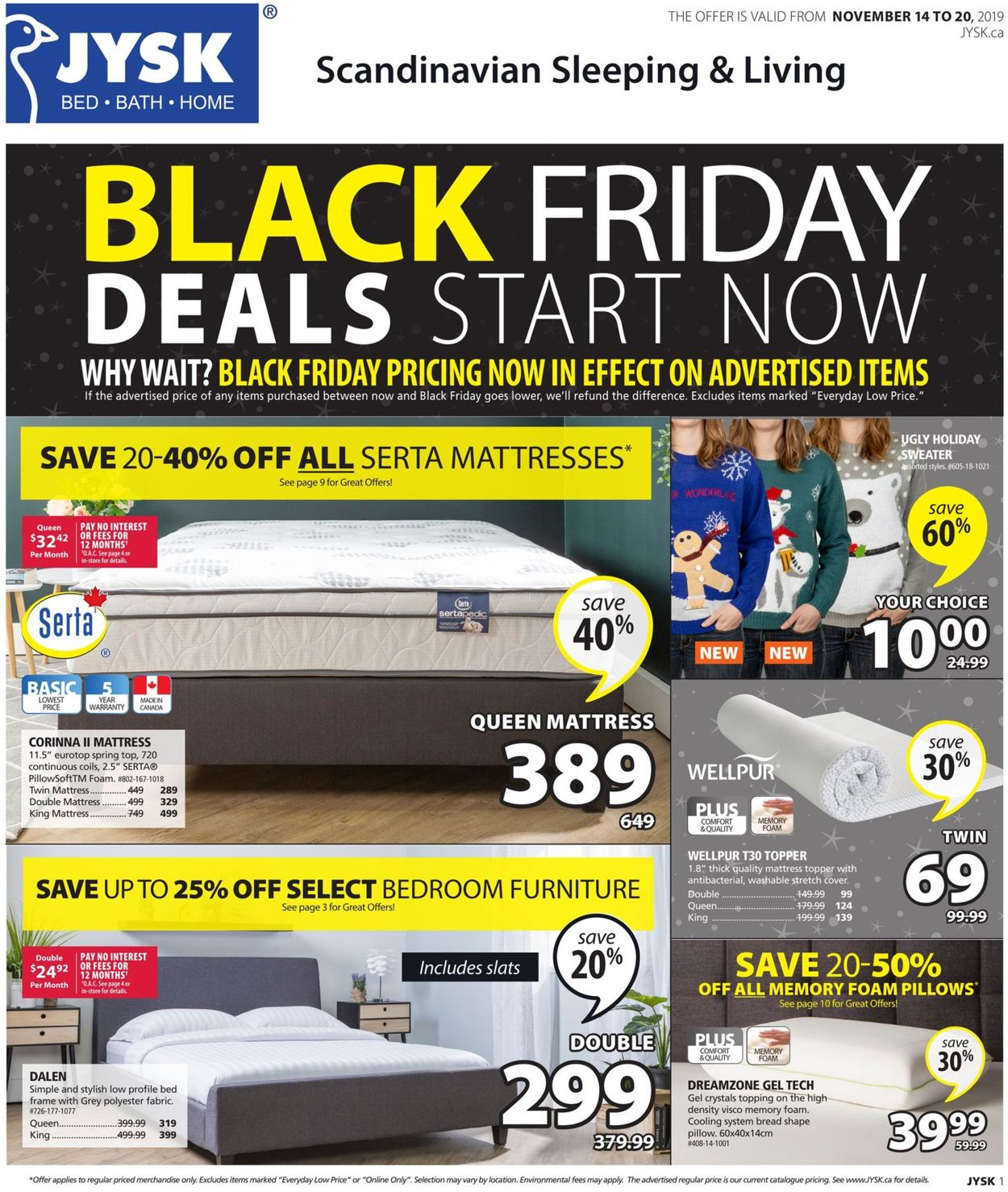JYSK - BLACK FRIDAY 2019 Deals Flyer - 11/14-11/20/2019
