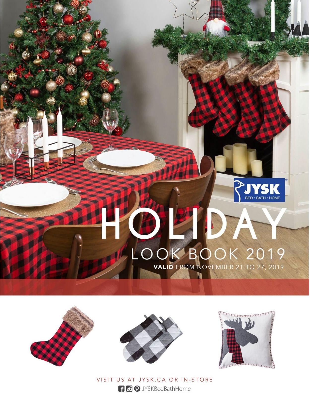 JYSK HOLIDAY LOOKBOOK 2019 Flyer - 11/21-11/27/2019