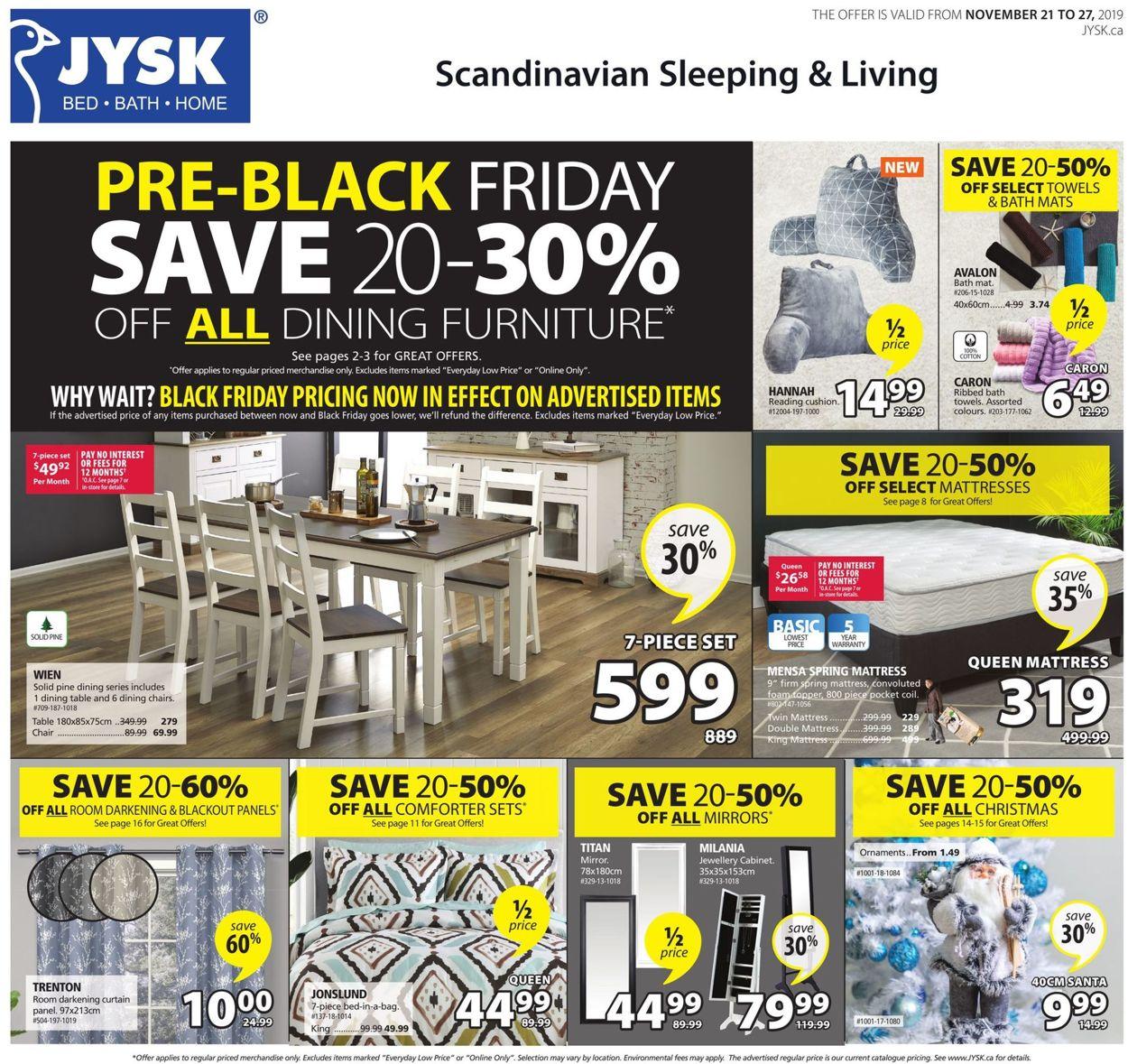 JYSK PRE-BLACK FRIDAY SALE!