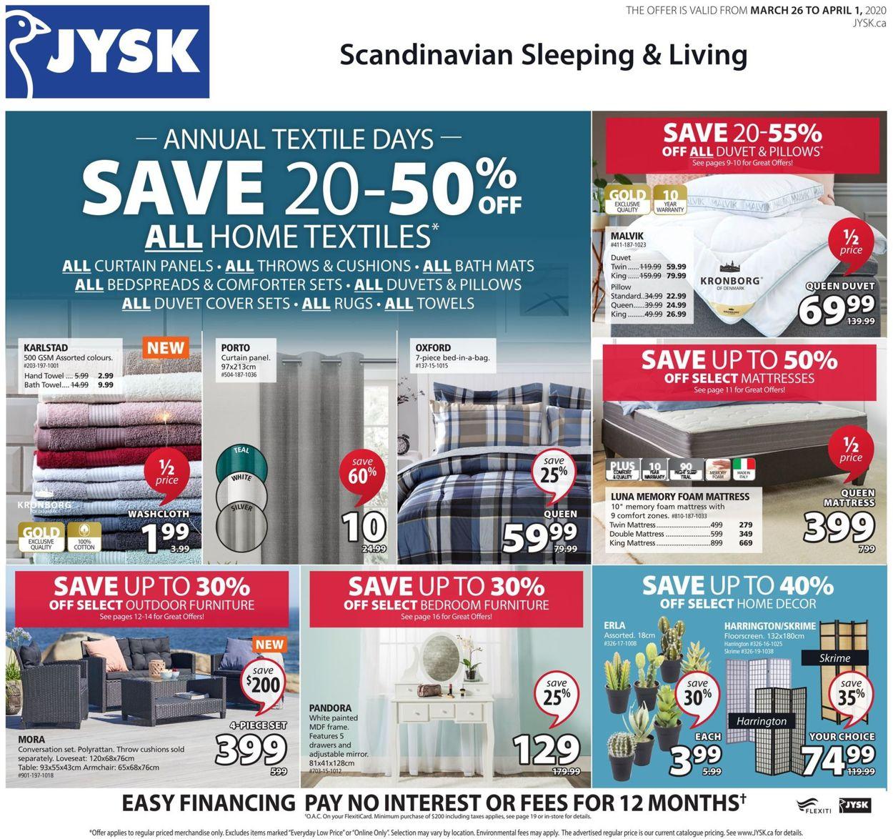 JYSK Flyer - 03/26-04/01/2020