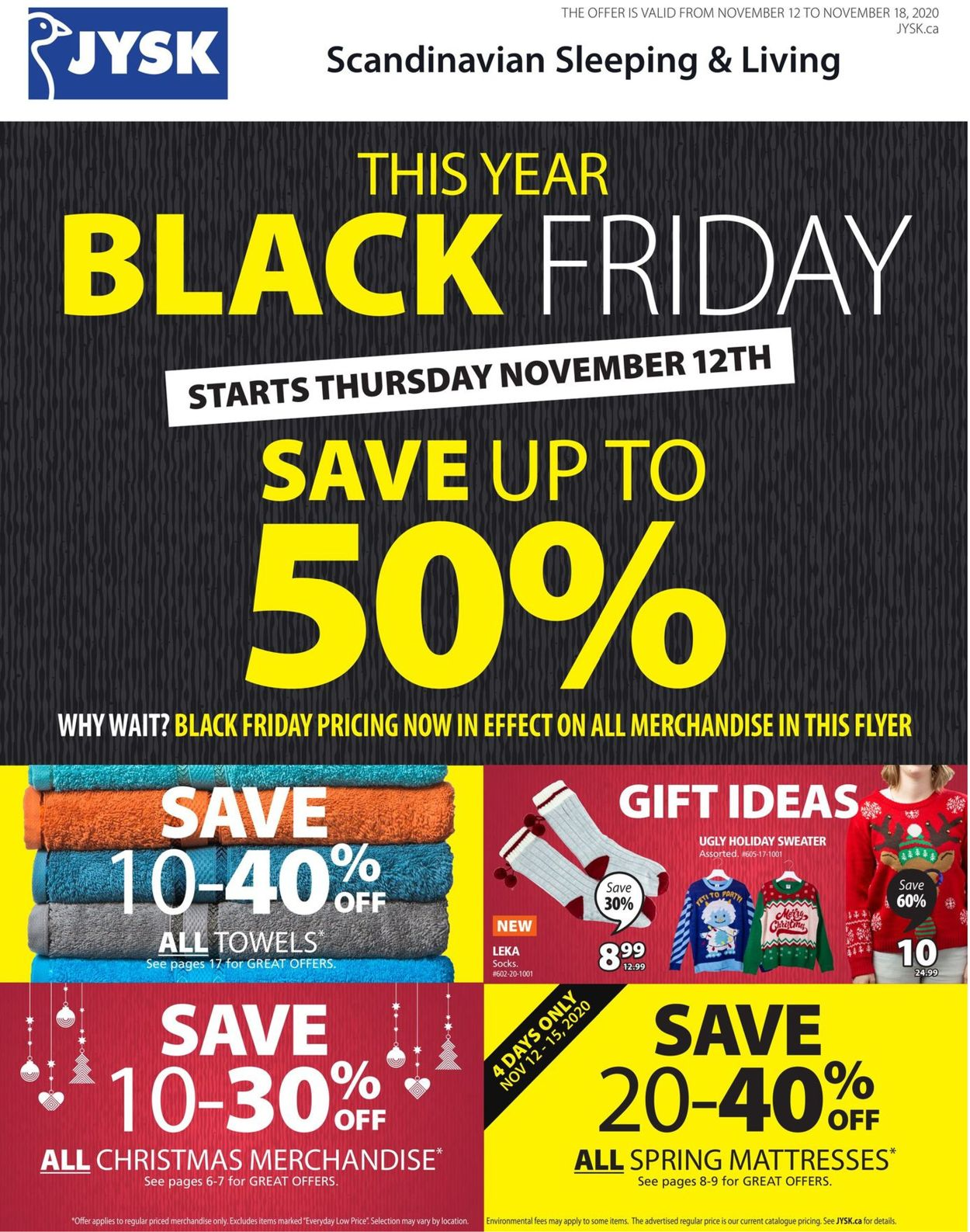 JYSK - Black Friday 2020 Flyer - 11/12-11/18/2020