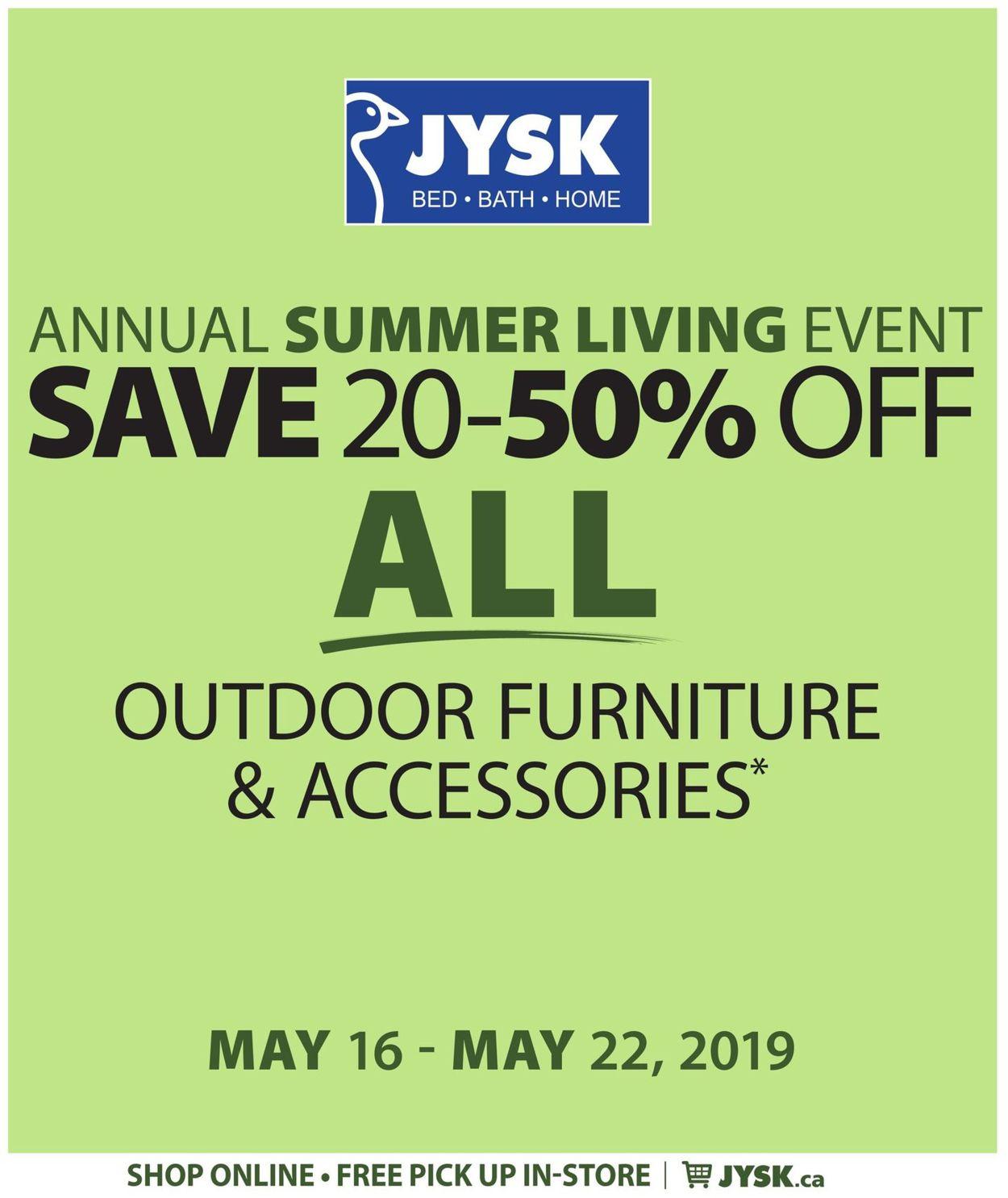 JYSK Flyer - 05/16-05/22/2019