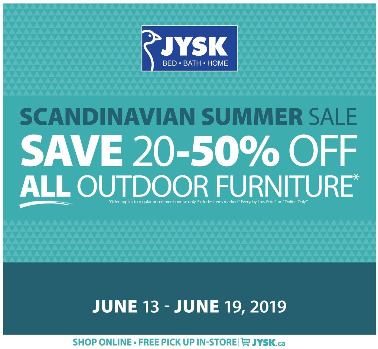 JYSK Flyer - 06/13-06/19/2019