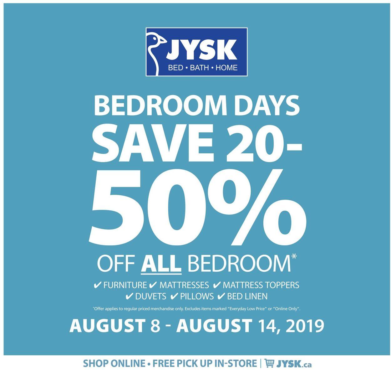 JYSK Flyer - 08/08-08/14/2019