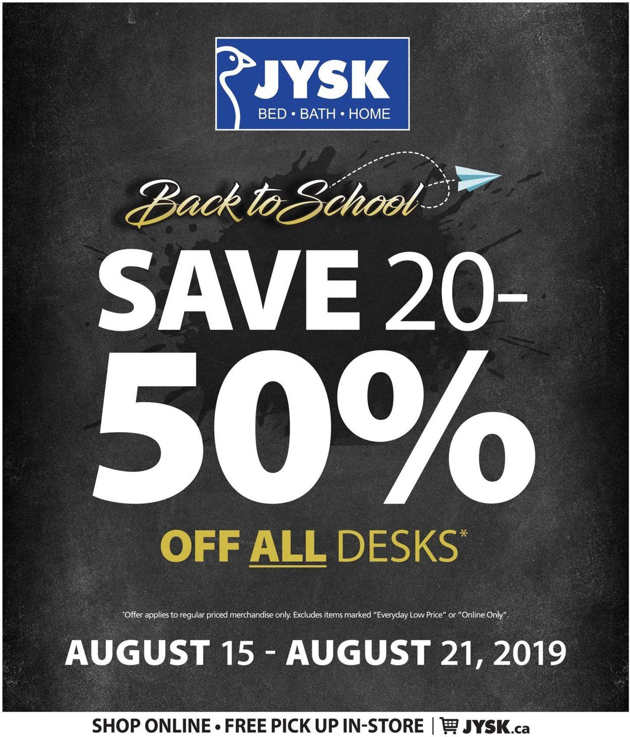 JYSK Flyer - 08/15-08/21/2019