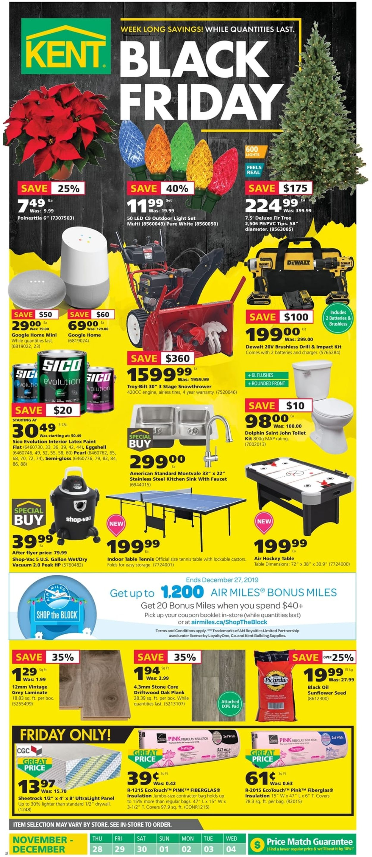 Kent BLACK FRIDAY 2019 FLYER