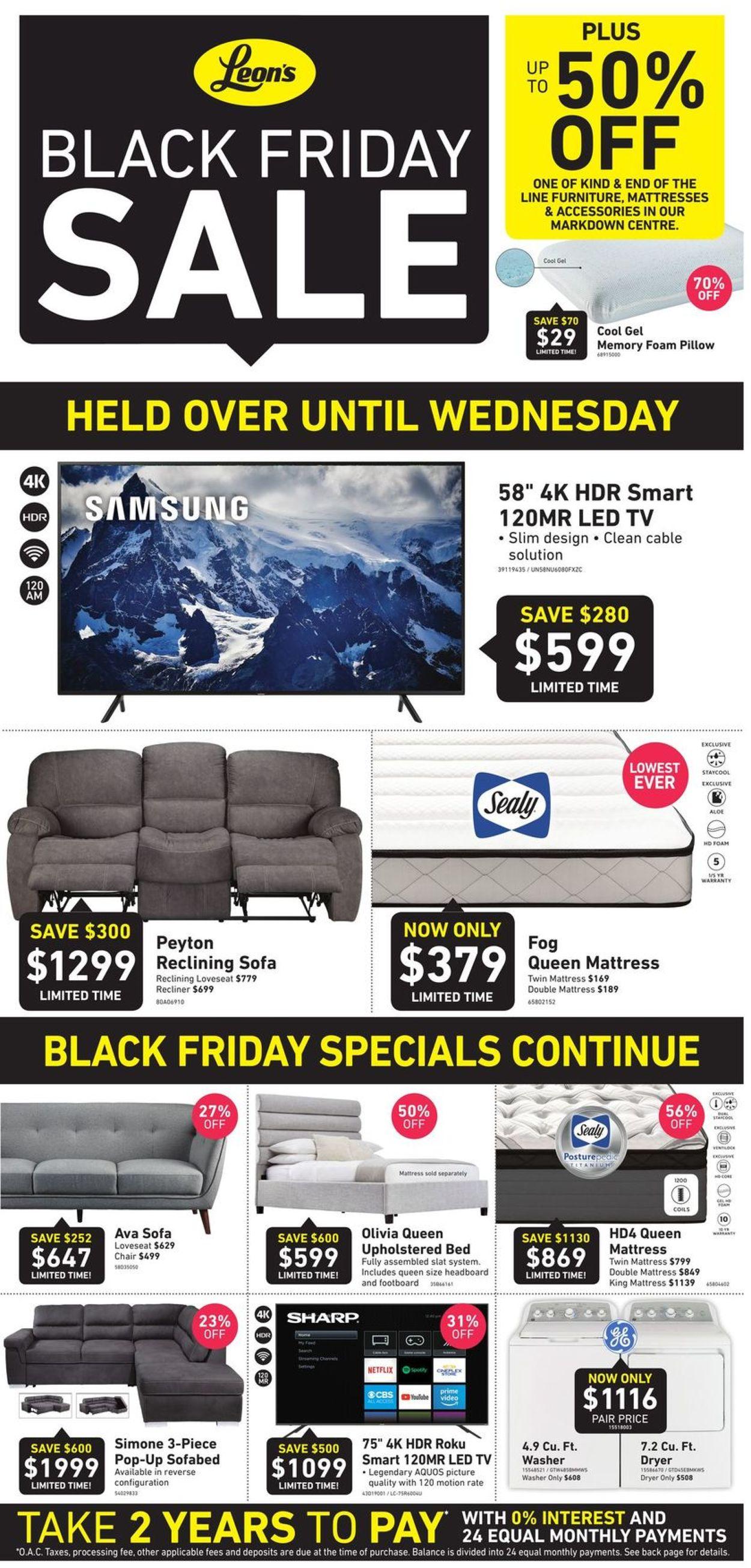 Leon's BLACK FRIDAY SALE 2019 Flyer - 11/29-12/04/2019