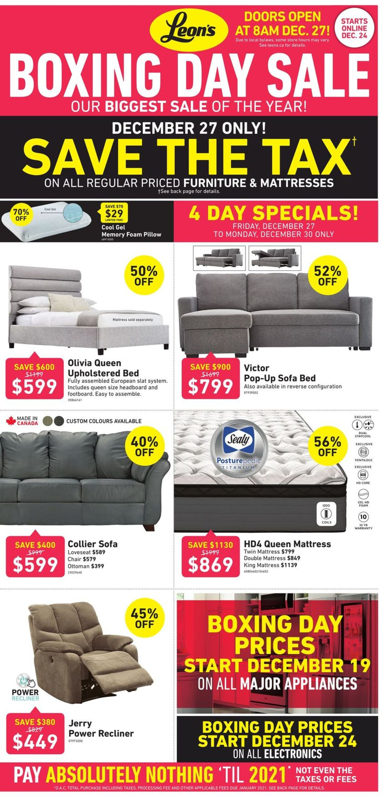 Leon's - Boxing Day SALE Flyer - 12/24-12/31/2019