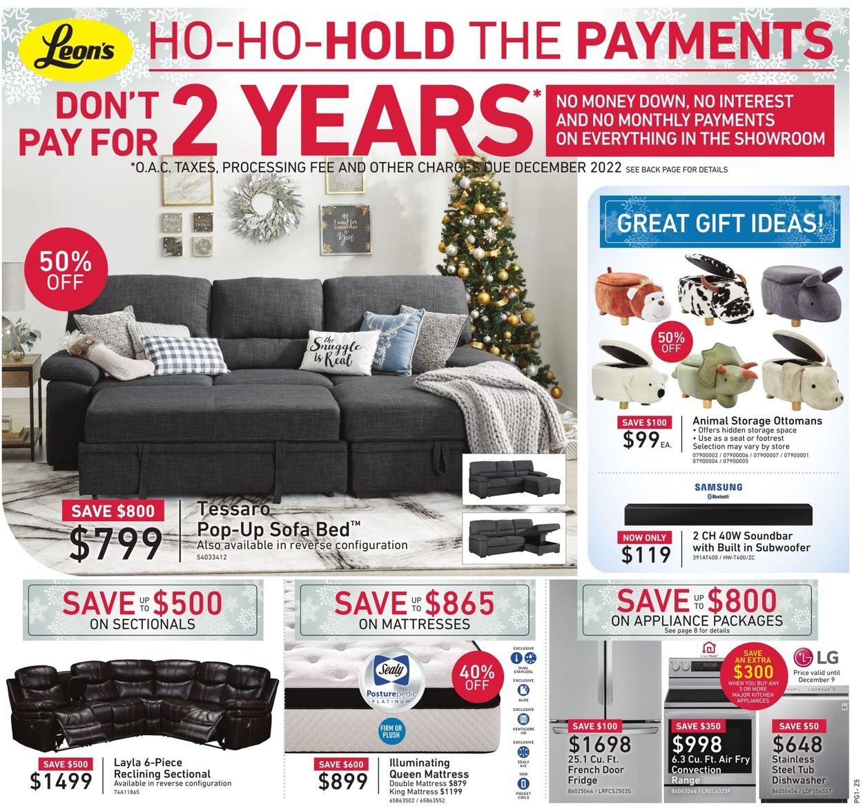 Leon's - Holiday 2020 Flyer - 12/04-12/23/2020