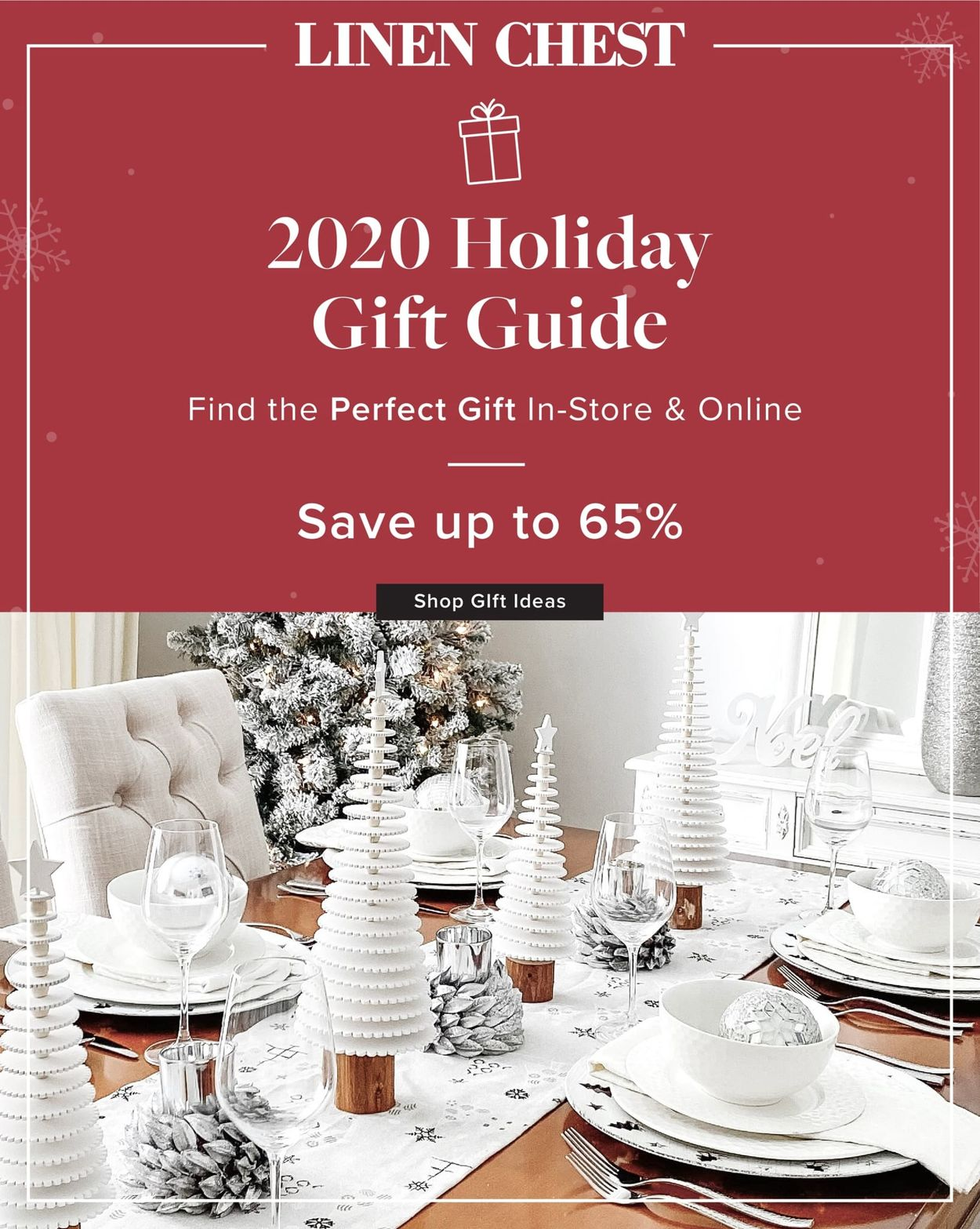 Linen Chest Gift Guide - Holiday 2020 Flyer - 11/05-11/30/2020