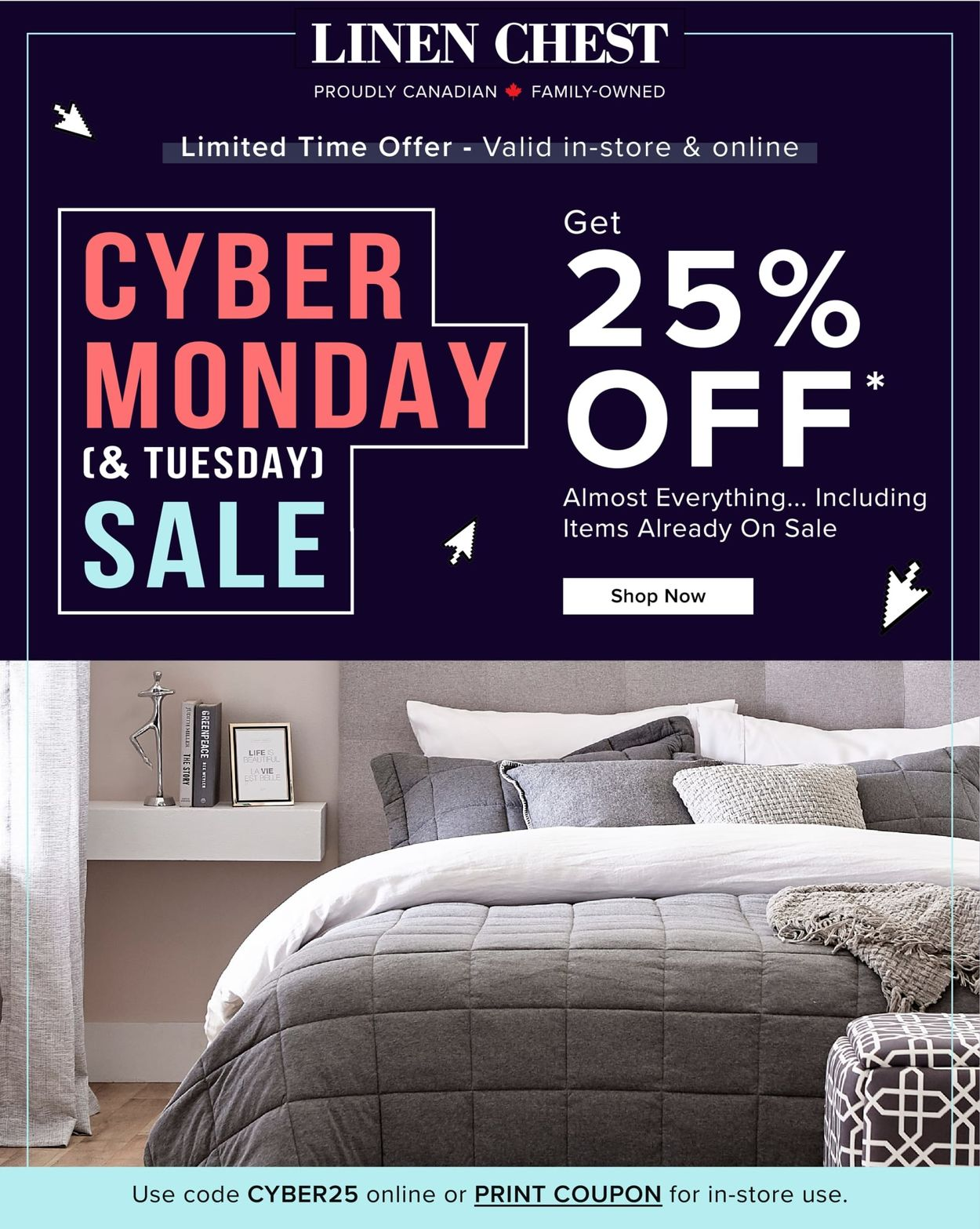 Linen Chest - Cyber Monday 2020 Flyer - 11/30-12/01/2020
