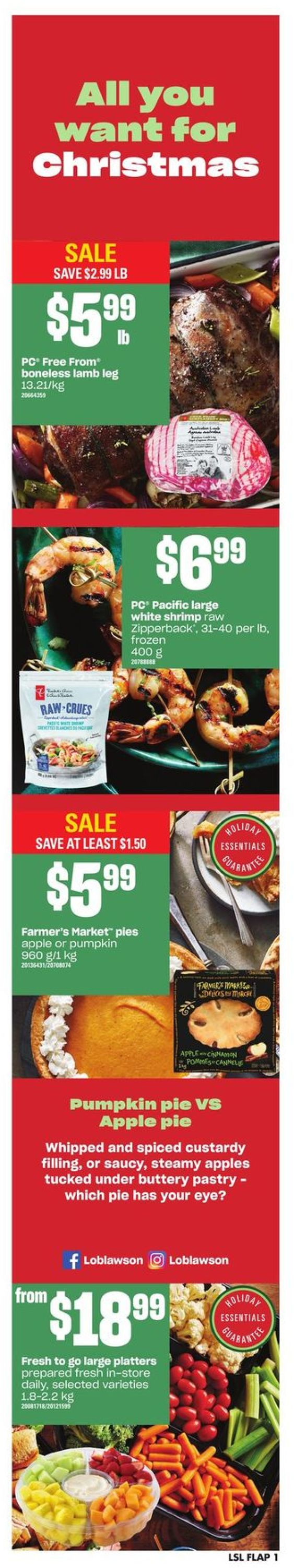 Loblaws Christmas Flyer 2019 Flyer - 12/19-12/24/2019