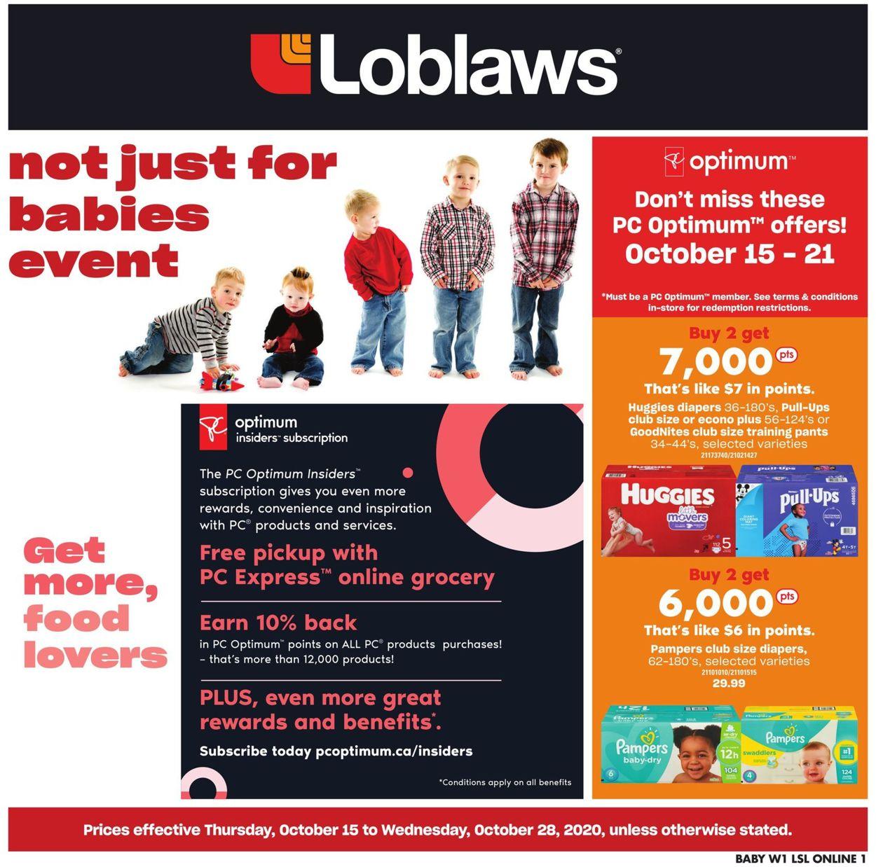 Loblaws Flyer - 10/15-10/28/2020