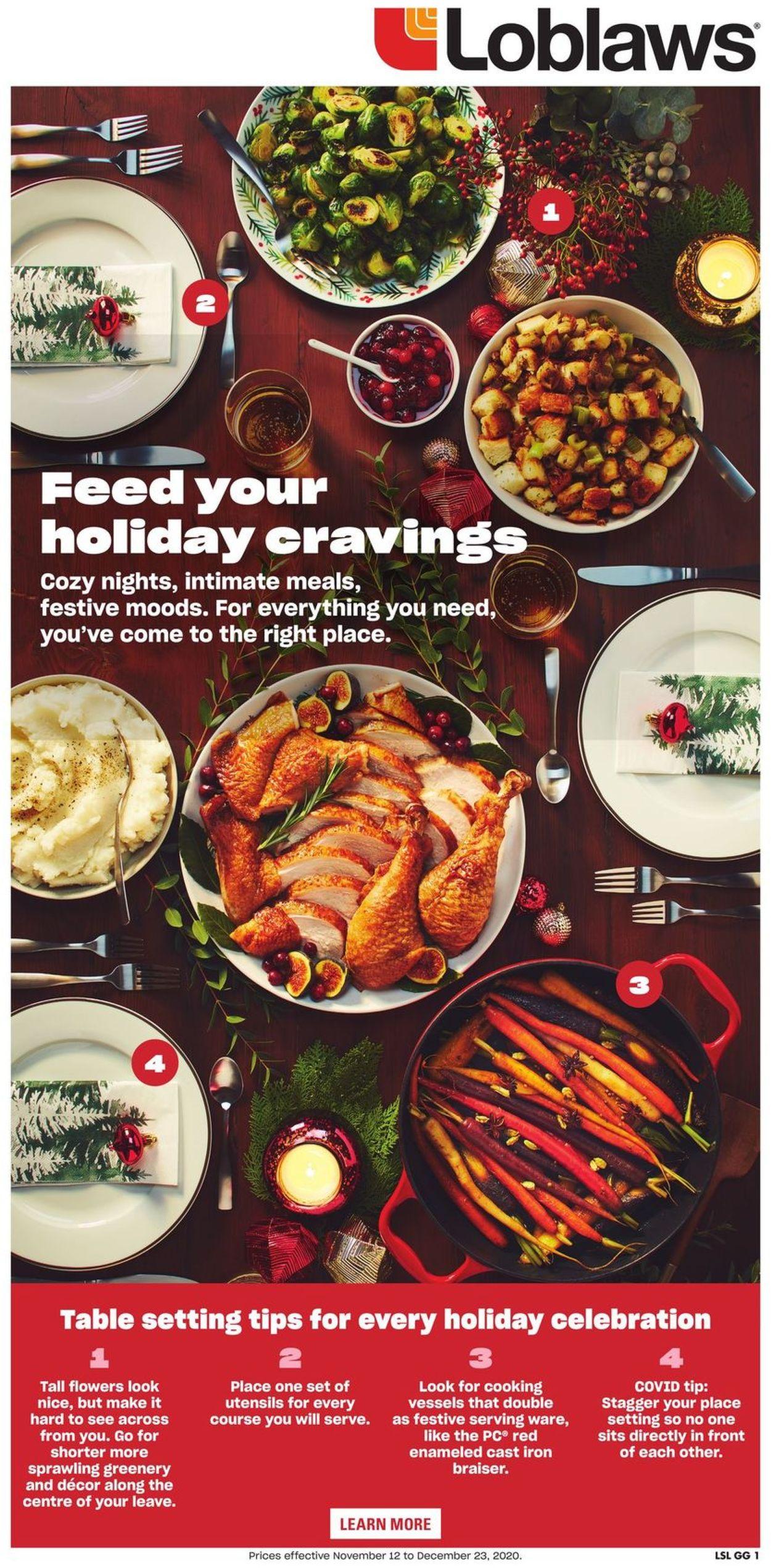 Loblaws - Holiday 2020 Flyer - 11/12-12/23/2020