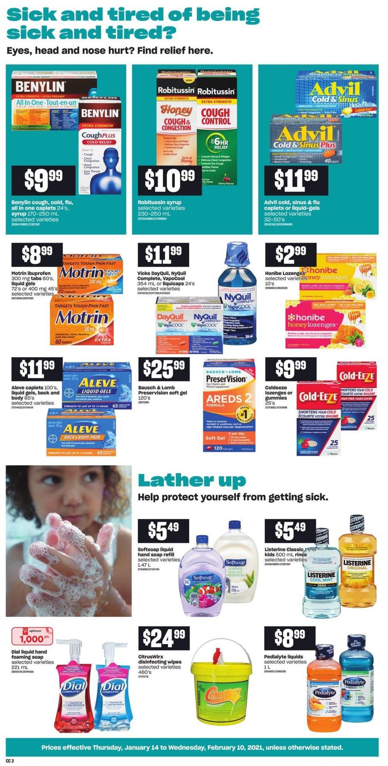 Loblaws - Cough & Cold Flyer - 01/14-02/10/2021 (Page 2)