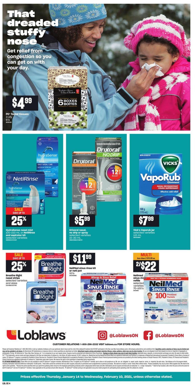 Loblaws - Cough & Cold Flyer - 01/14-02/10/2021 (Page 4)