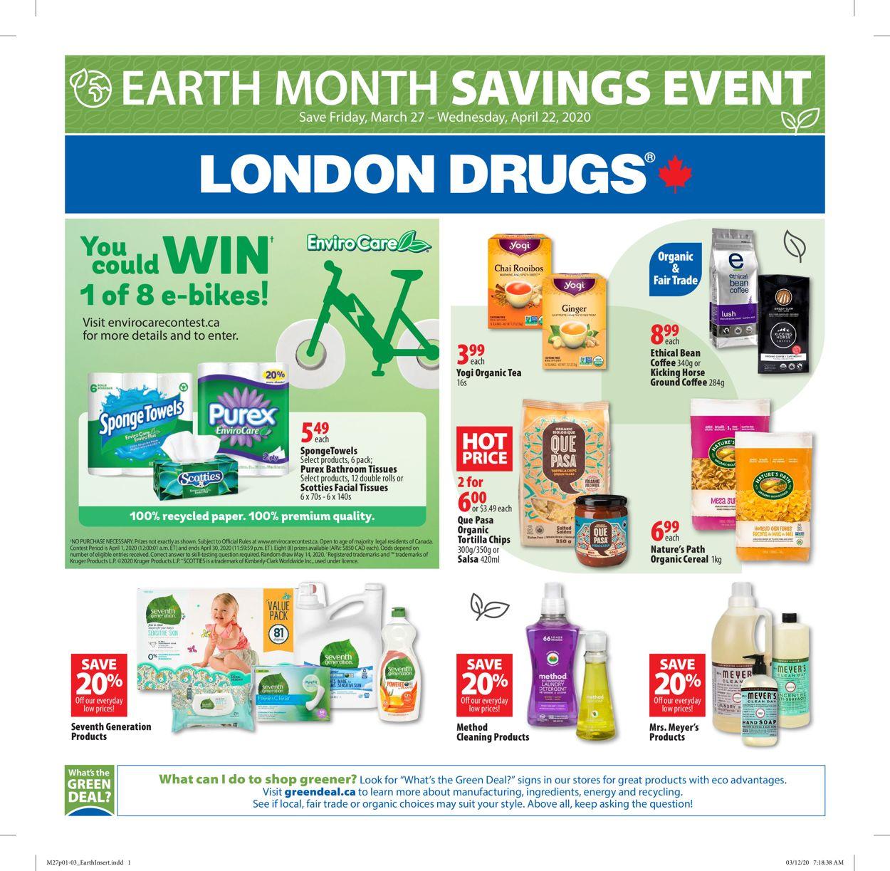 London Drugs Flyer - 03/27-04/22/2020