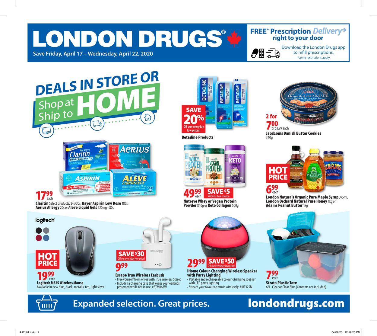 London Drugs Flyer - 04/17-04/22/2020