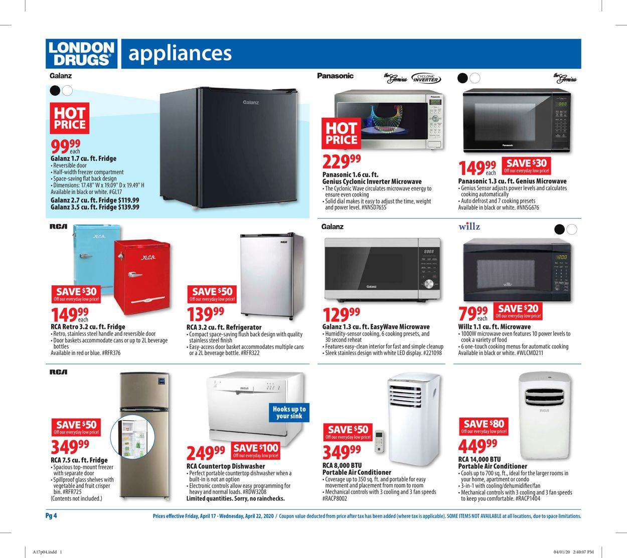 London Drugs Flyer - 04/17-04/22/2020 (Page 4)