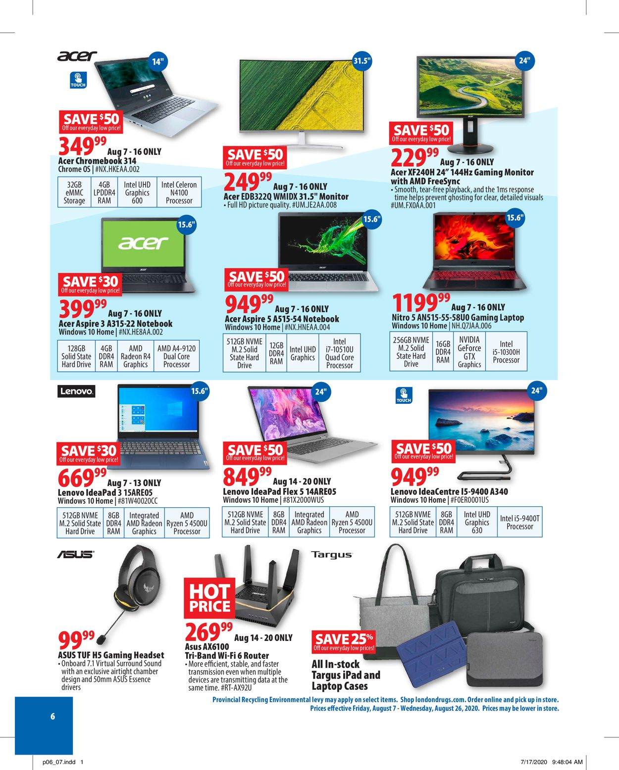 London Drugs Flyer - 08/07-08/26/2020 (Page 6)