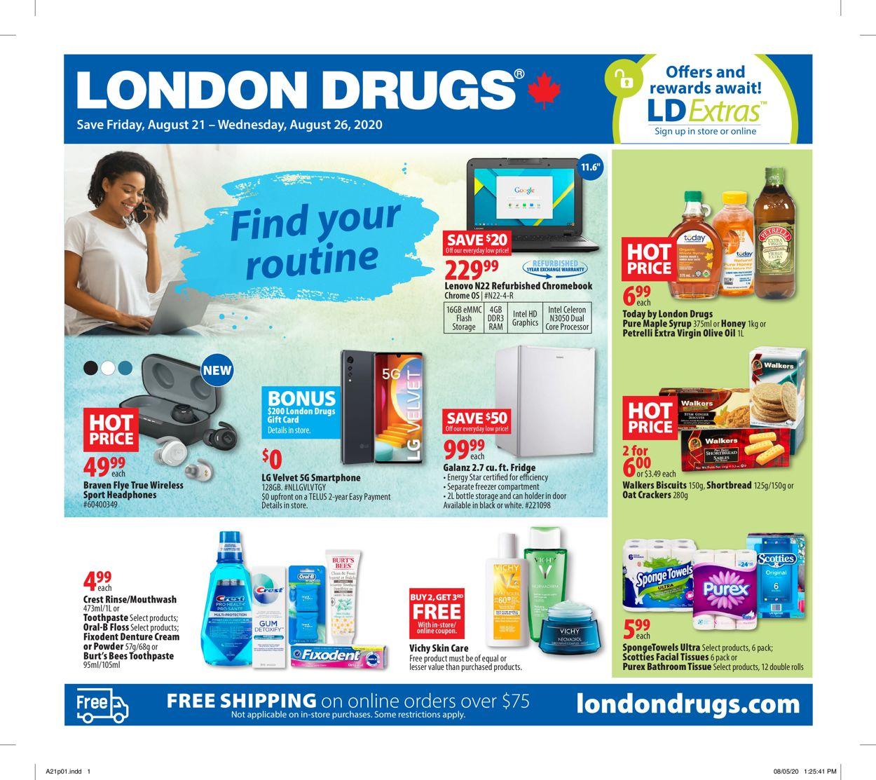 London Drugs Flyer - 08/21-08/26/2020