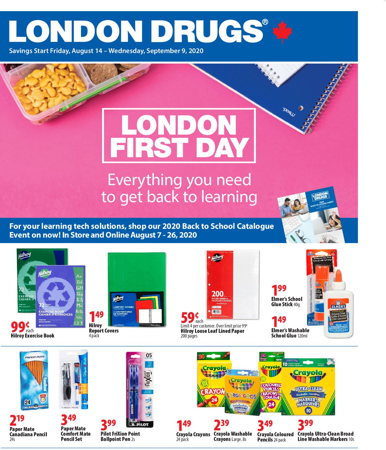 London Drugs Flyer - 08/14-09/09/2020