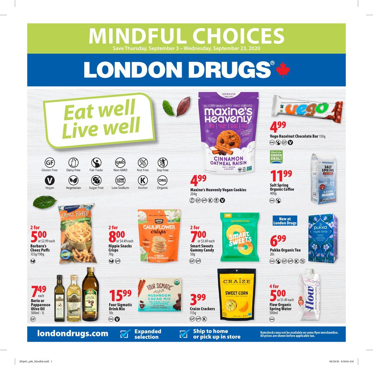 London Drugs Flyer - 09/03-09/23/2020