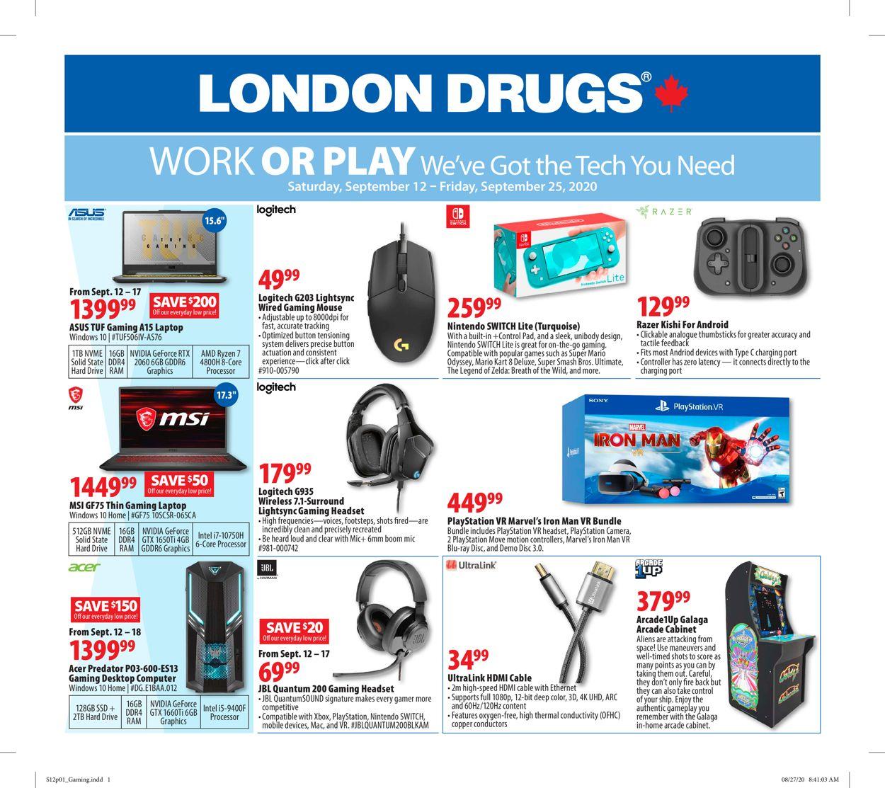 London Drugs Flyer - 09/12-09/25/2020