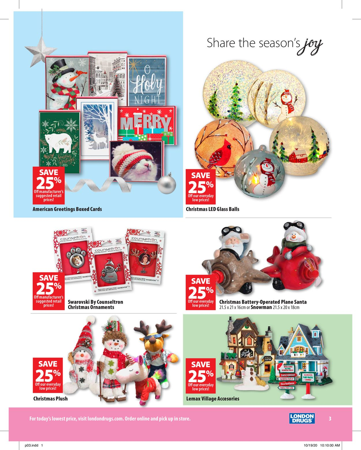 London Drugs Holiday 2020 Flyer - 11/13-12/24/2020 (Page 3)