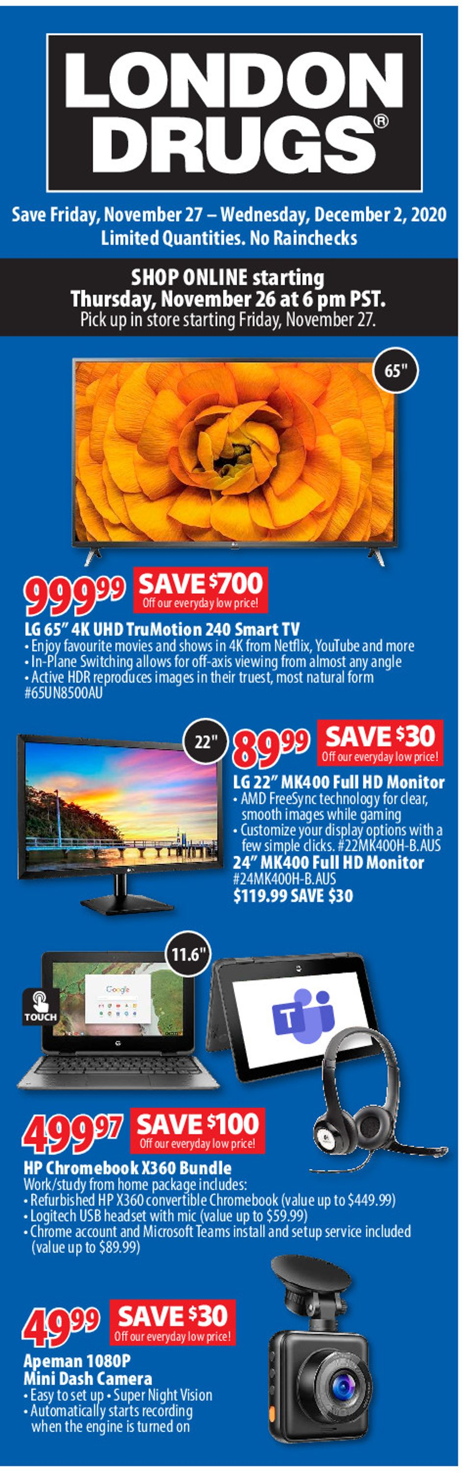 London Drugs - Black Friday 2020 Flyer - 11/26-12/02/2020 (Page 3)