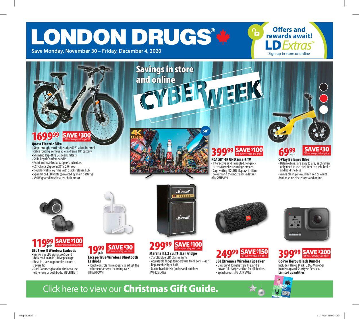 London Drugs - Cyber Monday 2020 Flyer - 11/30-12/04/2020