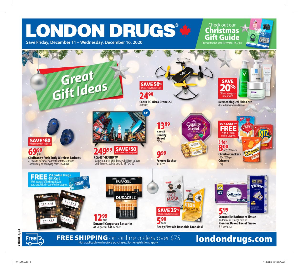 London Drugs - Holiday 2020 Flyer - 12/11-12/16/2020